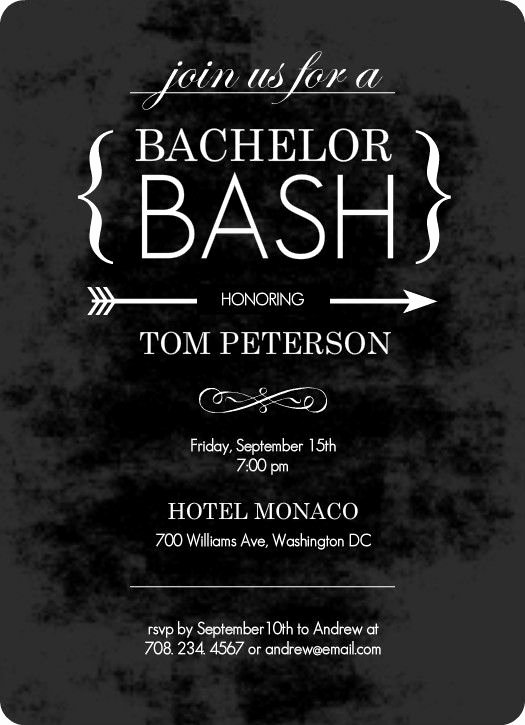 Bachelor Party Invites Template Luxury Chalk Board Black Bachelor Party Invitation by Purpletrail
