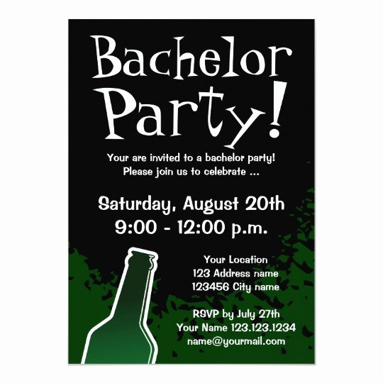 Bachelor Party Invites Template Unique Bachelor Party Invitations Custom Invites