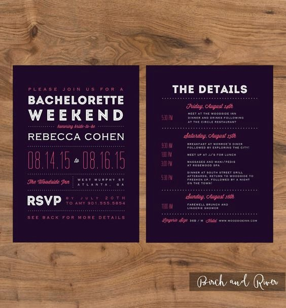Bachelorette Itinerary Template Free Beautiful Printable Bachelorette Weekend Invitation and Itinerary