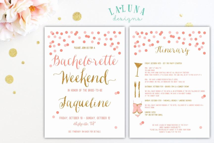 Bachelorette Itinerary Template Free Elegant Bachelorette Party Itinerary Template
