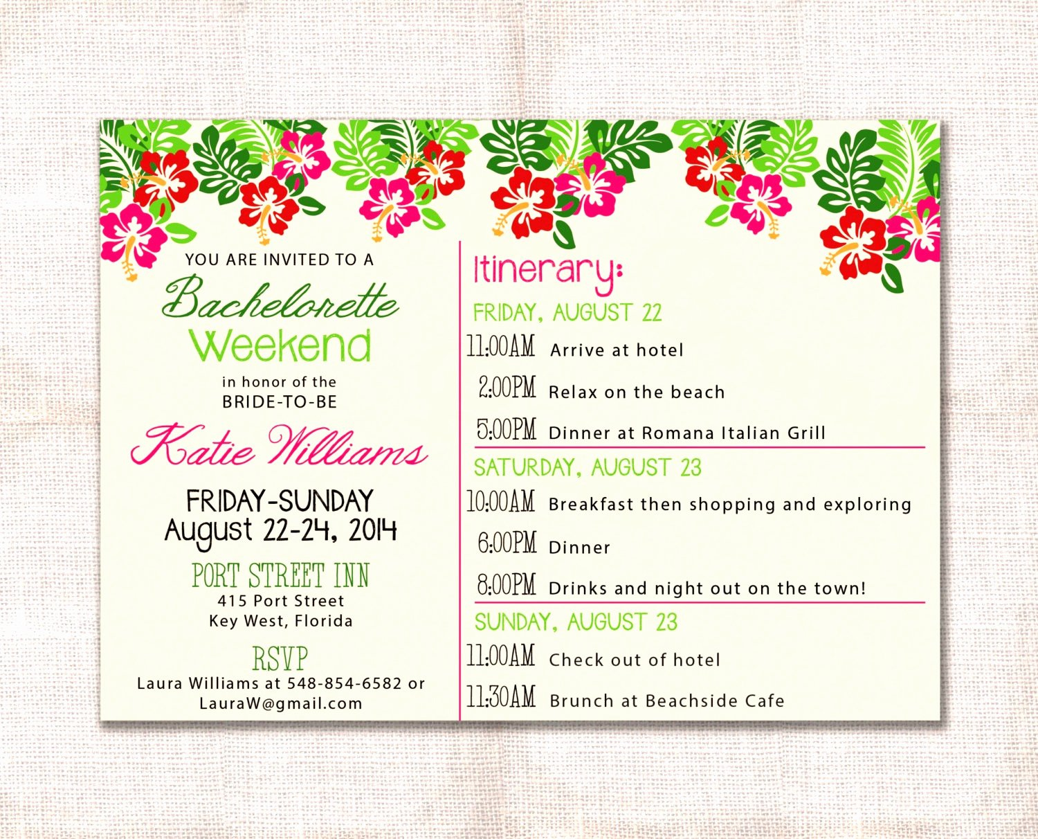 Bachelorette Itinerary Template Free Fresh Bachelorette Itinerary Template Etsy Party Weekend
