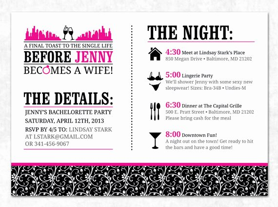 Bachelorette Itinerary Template Free Lovely 29 Of Bachelorette Weekend Invitation Template