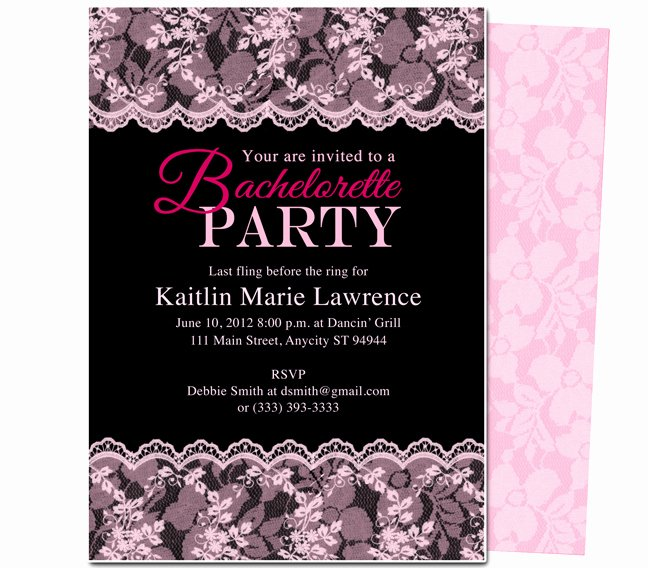 Bachelorette Party Invite Template Awesome Bachelorette Invitation Template Word Templates Resume
