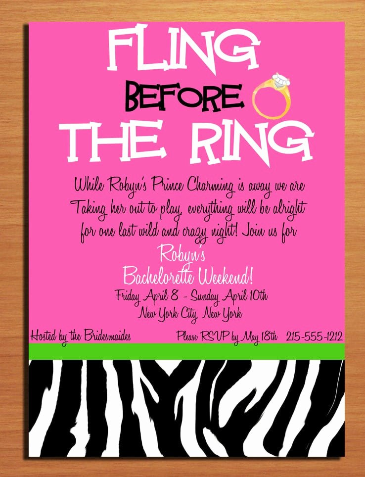 Bachelorette Party Invite Template Awesome Bachelorette Party Invitation Template