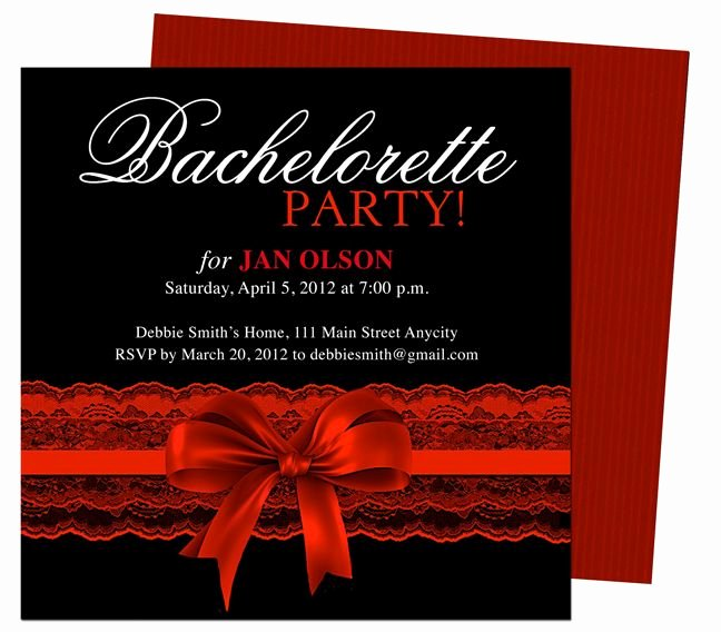 Bachelorette Party Invite Template Beautiful Bachelorette Party Invitations Templates Scarlet Red