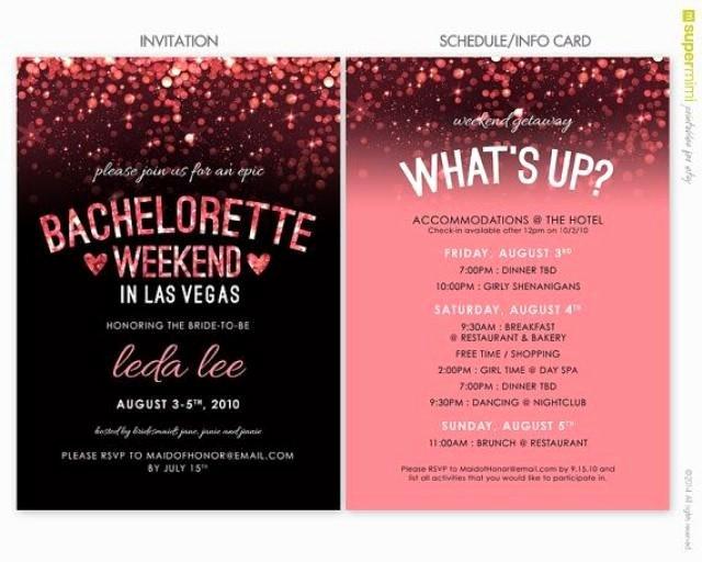 Bachelorette Party Invite Template Beautiful Sparkly Pink Black Vegas Bachelorette Invitation and