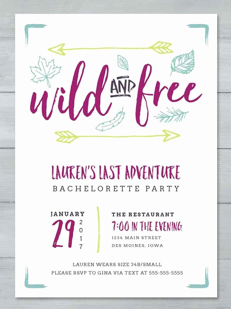 Bachelorette Party Invite Template Fresh 14 Printable Bachelorette Party Invitation Templates
