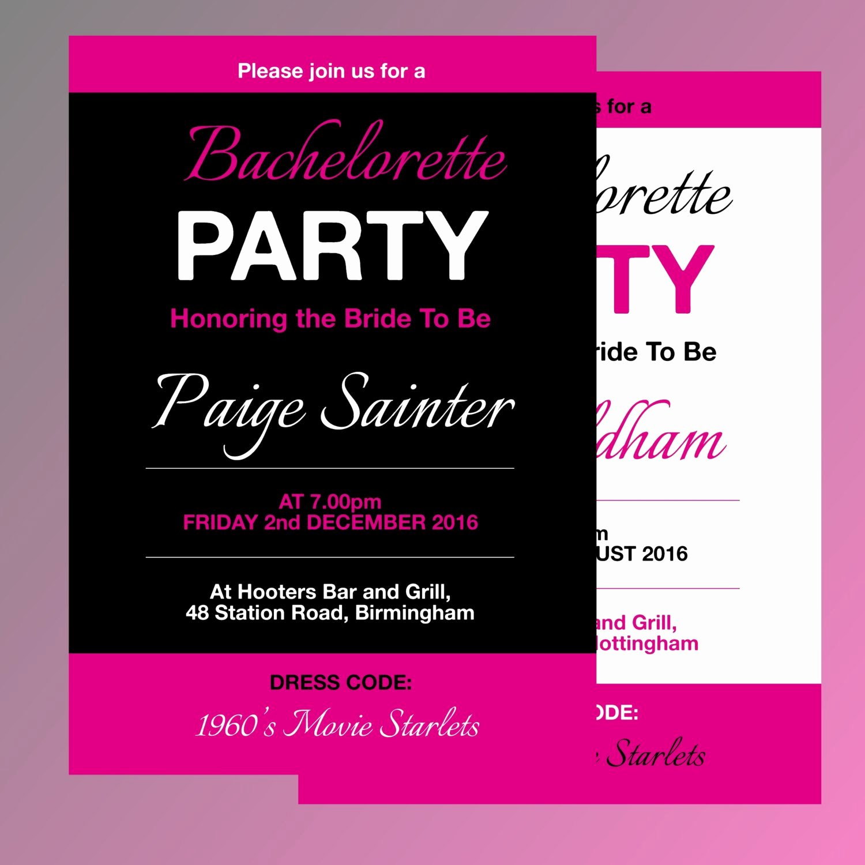 Bachelorette Party Invite Template Fresh Fully Editable Bachelorette Party Invitation Template