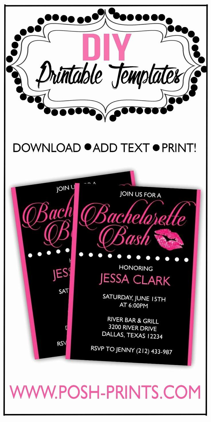Bachelorette Party Invite Template Fresh Printable Bachelorette Party Invitation Download Edit