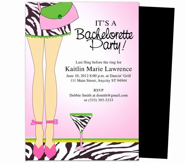 Bachelorette Party Invite Template Inspirational Bachelorette Party Invitations Templates Legs