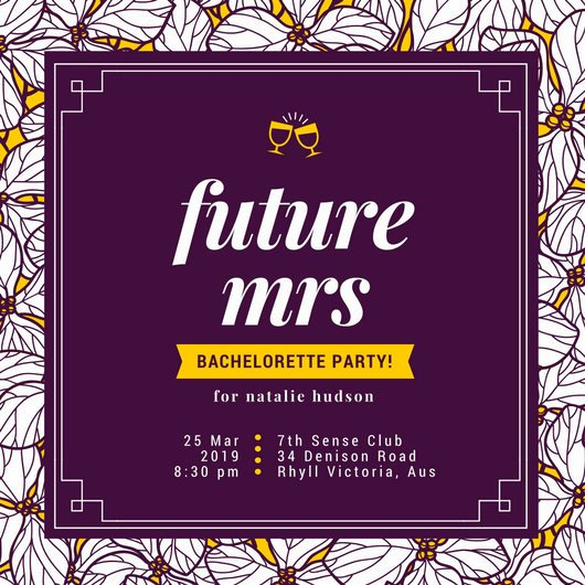 Bachelorette Party Invite Template Lovely Customize 104 Bachelorette Party Invitation Templates