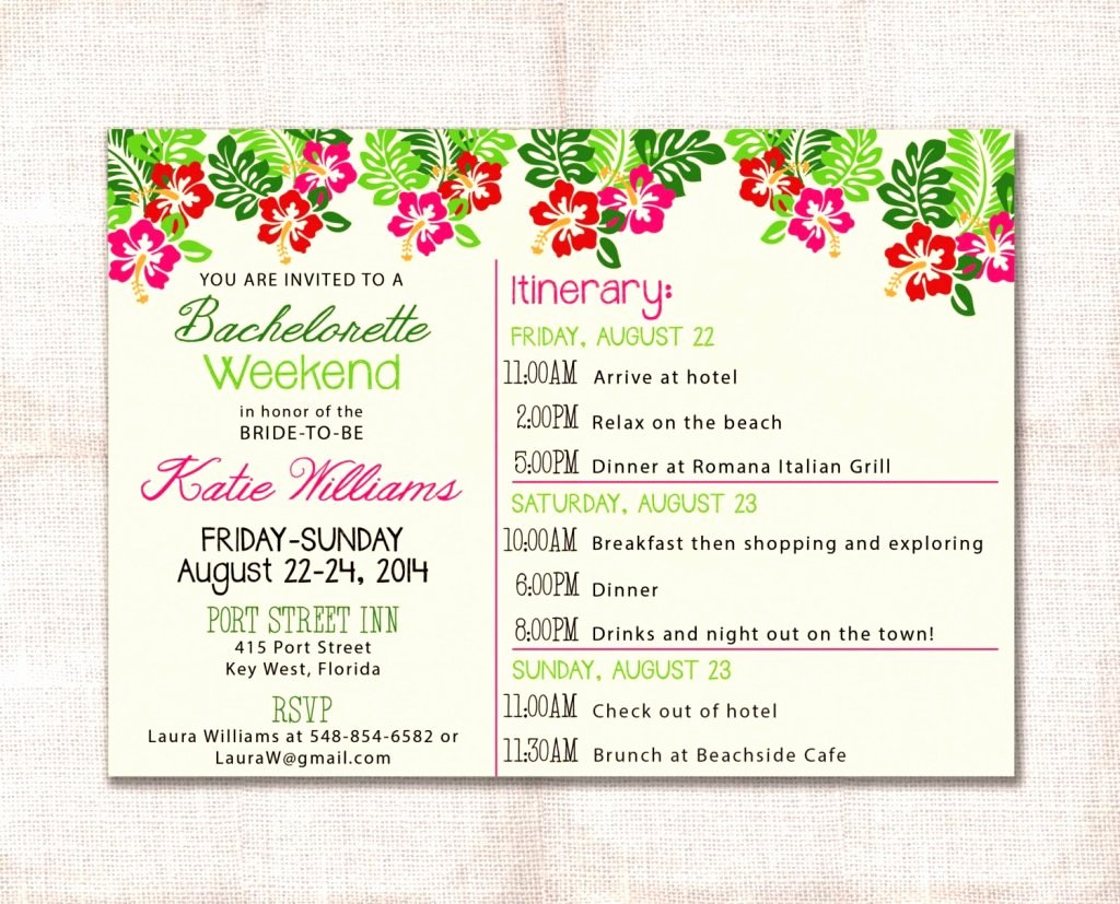 Bachelorette Party Itinerary Template Best Of Bachelorette Itinerary Template Etsy Party Weekend