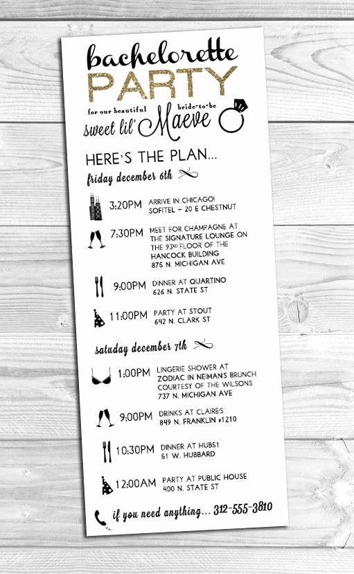 Bachelorette Party Itinerary Template Fresh 25 Best Ideas About Wedding Weekend Itinerary On