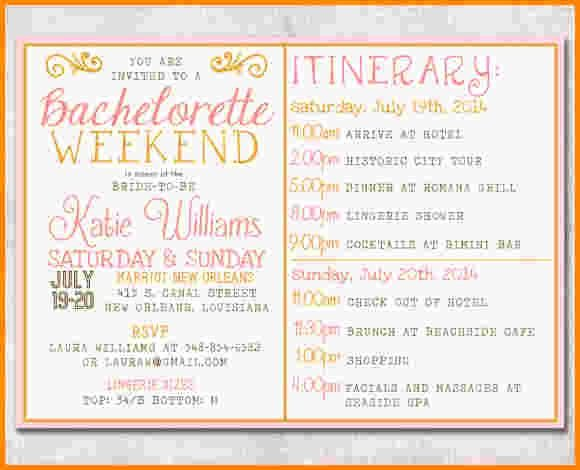 Bachelorette Party Itinerary Template Inspirational 17 Best Ideas About Bachelorette Itinerary On Pinterest