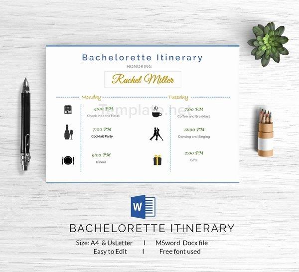 Bachelorette Weekend Itinerary Template Beautiful 15 Free Itinerary Templates Travel Wedding Vacation