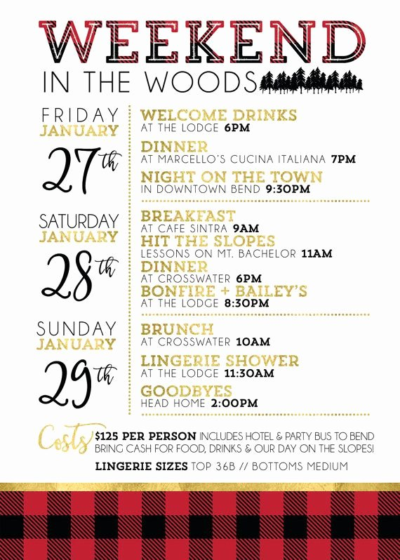 Bachelorette Weekend Itinerary Template Best Of 31 Best Hen Party Invitations Images On Pinterest