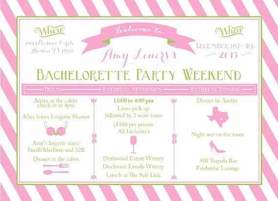 Bachelorette Weekend Itinerary Template Fresh Bacheloretternweekend Itinerary Templates