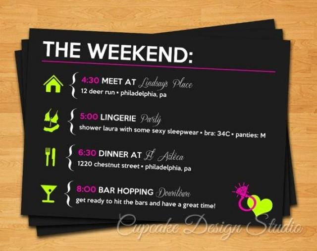 Bachelorette Weekend Itinerary Template Lovely Printable Bachelorette Party Itinerary Lucky In Love