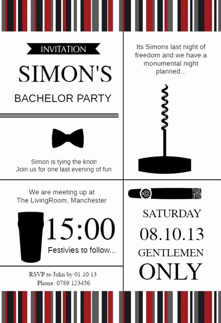 Bachelors Party Invitation Template Beautiful Bachelor Party Invitation Templates Free