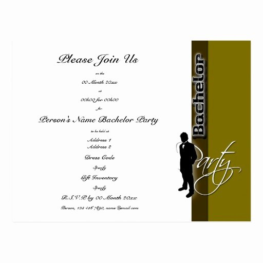 Bachelors Party Invitation Template Fresh Template Bachelor Party Distinguished Invitations Postcard