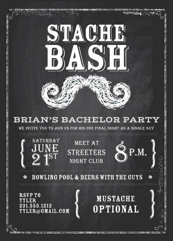 Bachelors Party Invitation Template Inspirational Items Similar to Chalkboard Bachelor Invitation