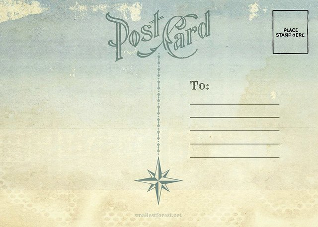 Back Of Postcard Template Awesome 4 Best Of Postcard Back Design Vintage Postcard