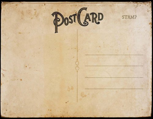 Back Of Postcard Template Beautiful Vintage Postcard Templates