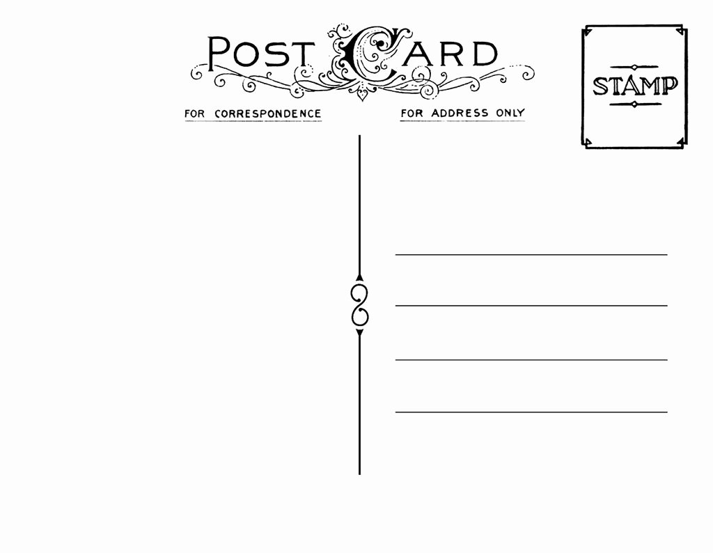Back Of Postcard Template Best Of Diy Postcard Save the Date Back