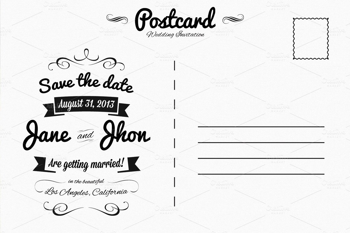 Back Of Postcard Template Elegant Elegant Wedding Invitation Postcard Invitation Templates