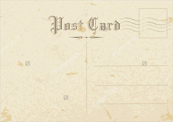Back Of Postcard Template Lovely Vintage Postcard Back Template 15 Old Postcard Templates