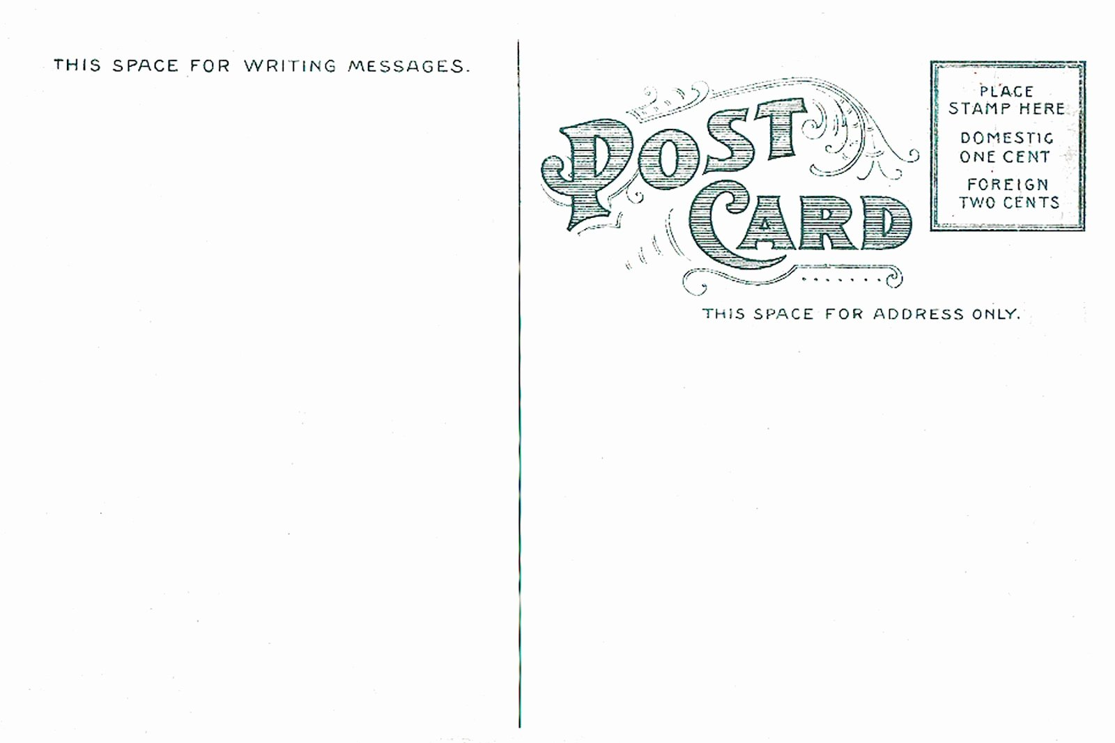 Back Of Postcard Template Luxury 7 Best Of Vintage Postcard Template Vintage