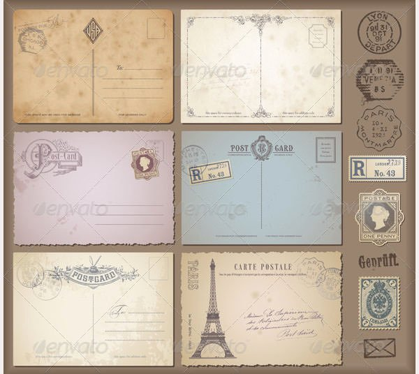 Back Of Postcard Template Unique Vintage Postcard Back Template Gallery for Blank Postcard