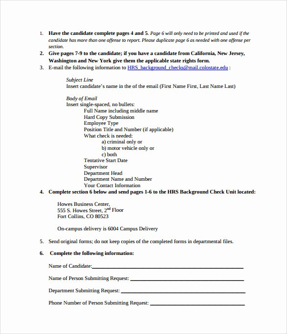 Background Check form Template Best Of 11 Background Check Authorization forms to Download