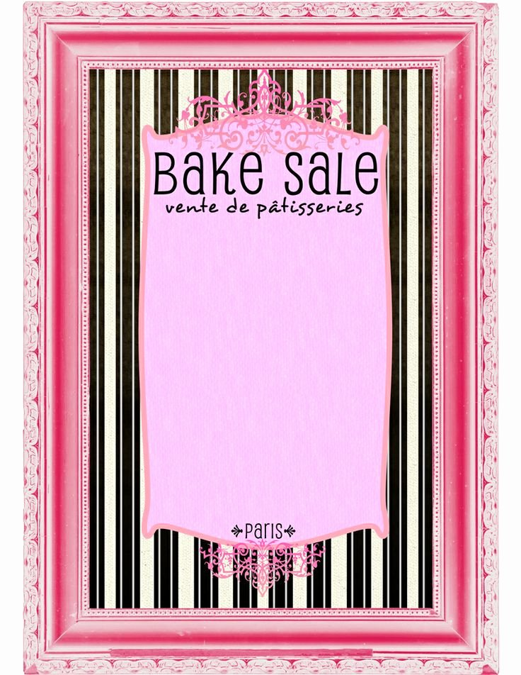 Bake Sale Flyer Template Beautiful 9 Best Of Bake Sale Printable Template Free