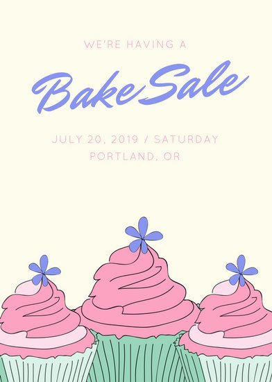 Bake Sale Flyer Template Beautiful Sale Flyer Templates Canva