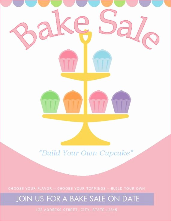 Bake Sale Flyer Template Best Of Free Bake Sale Flyer Template