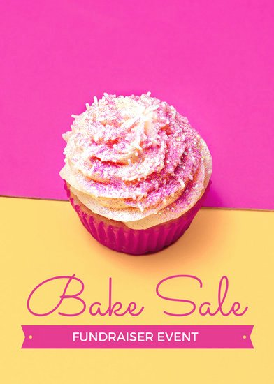 Bake Sale Flyer Template Fresh Pink and Yellow Bake Sale Fundraiser Flyer Templates by