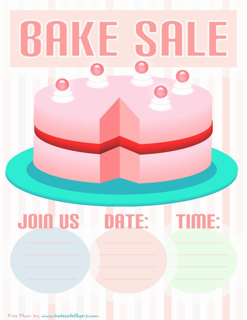 Bake Sale Flyer Template Inspirational Bake Sale Flyers – Free Flyer Designs