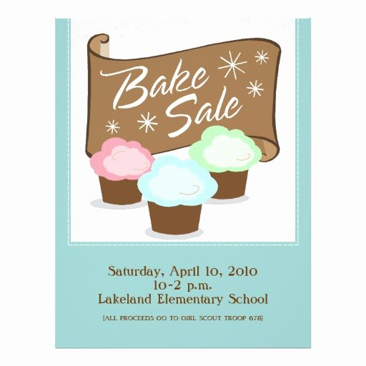 Bake Sale Flyer Template Lovely Bake Sale Flyers