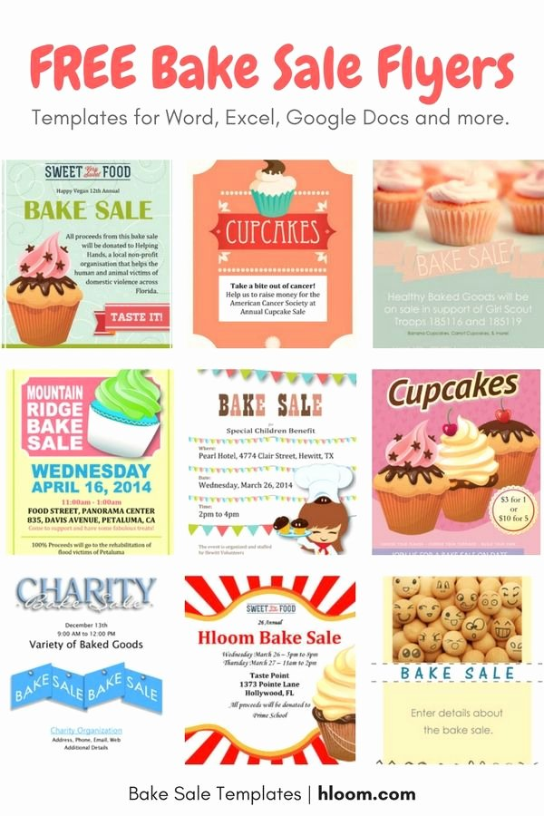 Bake Sale Flyer Template New 22 Best Bake Sale Flyers Images On Pinterest