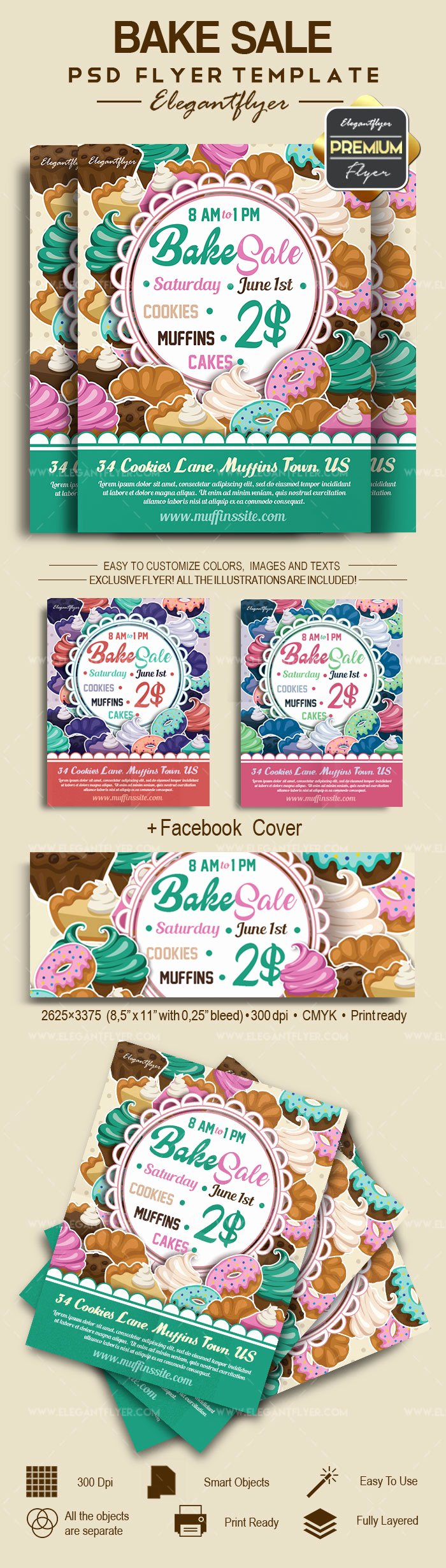 Bake Sale Flyer Template New Bake Sale Invitation – by Elegantflyer