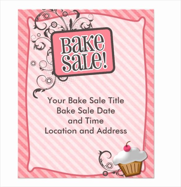 Bake Sale Flyer Template Unique 34 Bake Sale Flyer Templates Free Psd Indesign Ai