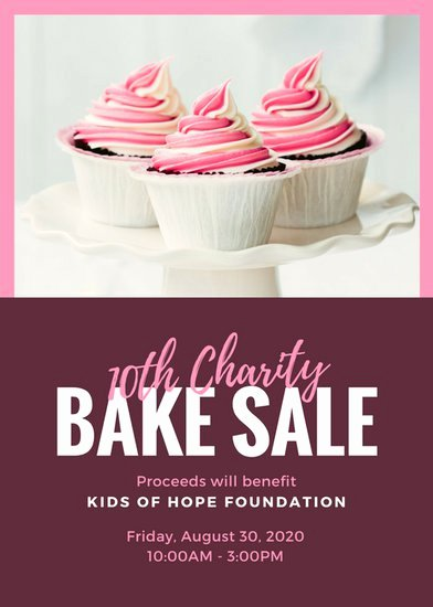 Bake Sale Flyer Template Unique Pink Fuchsia Cupcake Bake Sale Flyer Templates by
