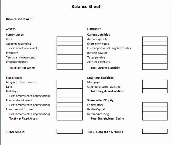 Balance Sheet Template Word Best Of Balance Sheet Template Microsoft Word Templates