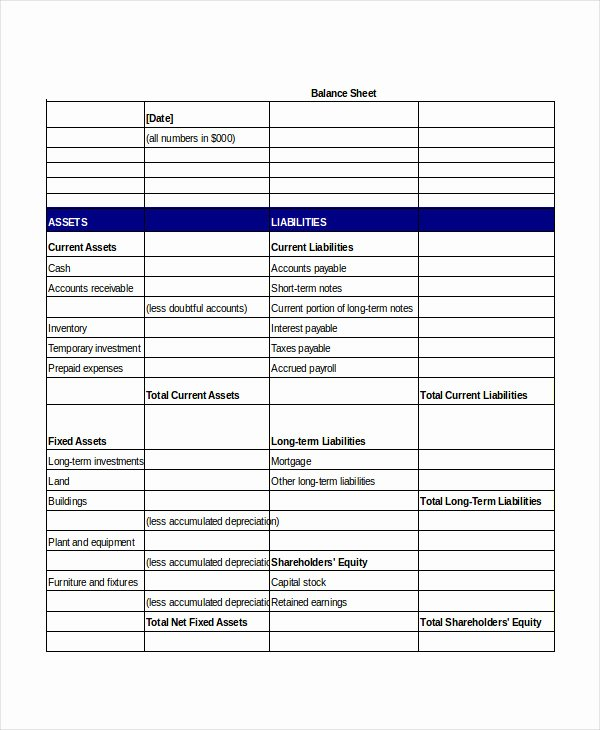Balance Sheet Template Word Best Of Simple Balance Sheet 20 Free Word Excel Pdf Documents