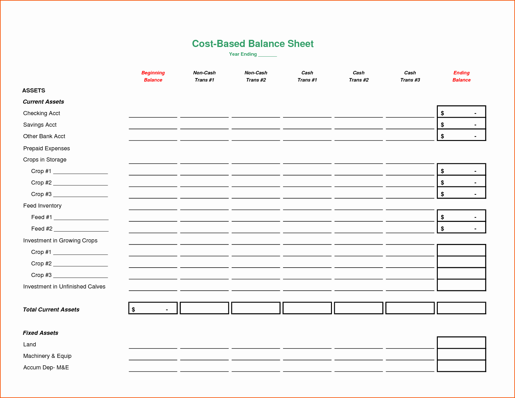 Balance Sheet Template Word Luxury 8 Blank Balance Sheet Bookletemplate