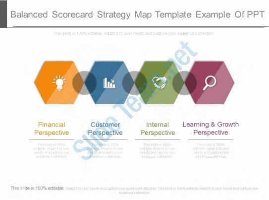 Balanced Scorecard Template Powerpoint New Balanced Scorecard Strategy Map Template Example Ppt