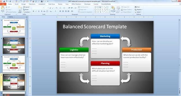 Balanced Scorecard Template Powerpoint New Free Balanced Scorecard Powerpoint Template