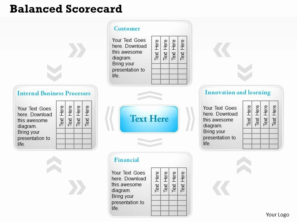 Balanced Scorecard Template Ppt Inspirational 0414 Balanced Scorecard Template Powerpoint Presentation