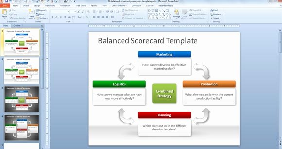 Balanced Scorecard Template Ppt Lovely Free Balanced Scorecard Powerpoint Template